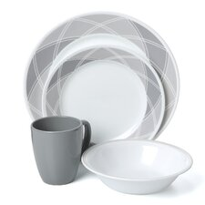 Vive Savvy Shades Grey 16 Piece Dinnerware Set