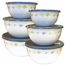 Coordinates 6 Piece Bowl Set with Secret Garden Design