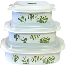 Coordinates Microwave Cookware and Storage Set with Bamboo Leaf Design