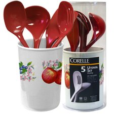 Coordinates 5 Piece Utensil Set with Chutney Design