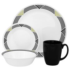 <strong>Corelle</strong> Livingware Global Stripes 16 Piece Dinnerware Set