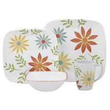 Happy Days Square 16 Piece Dinnerware Set