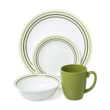 Livingware Garden Sketch Bands 16 Piece Dinnerware Set