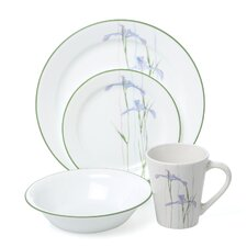 Impressions Shadow Iris 16 Piece Dinnerware Set
