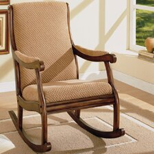 <strong>Williams Import Co.</strong> Rocking Fabric Arm Chair