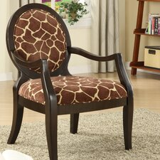 Giraffe Distressed Fabric Arm Chair