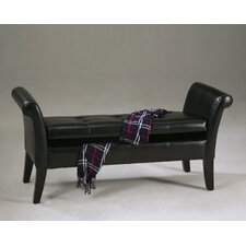 <strong>Williams Import Co.</strong> Leatherette Storage Bedroom Bench