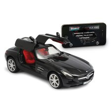 <strong>Silver Lit</strong> Bluetooth Mercedes-Benz SLS 1:16 Car