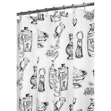 Prints Polyester Barber Shop Shower Curtain