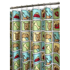<strong>Watershed</strong> Prints Polyester Doggy Time Shower Curtain