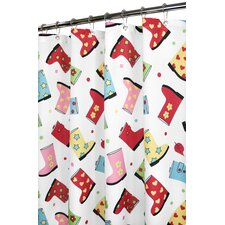 Prints Polyester Favorite Boots Shower Curtain