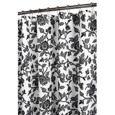 Prints Polyester Floral Swirl Shower Curtain