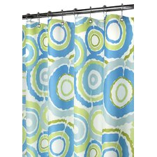 Prints Polyester Groovy Circles Shower Curtain