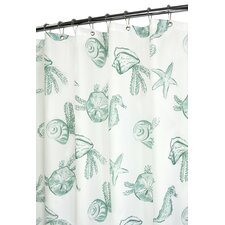 Prints Polyester Sea Life Shower Curtain