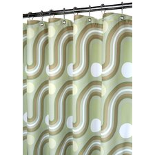 Prints Polyester Squiggles Shower Curtain