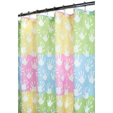 Prints Polyester World Hands Shower Curtain