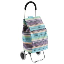 Purple Stripe Shopping Trolley
