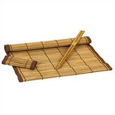 12 Piece Bamboo Placemat/Coaster/Chopstick Set