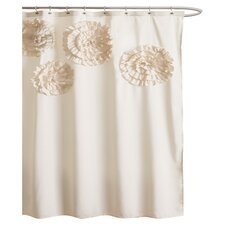 Flower Glamour Polyester Shower Curtain