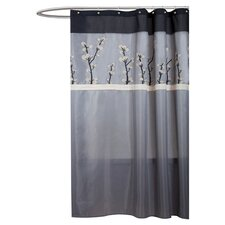 Cocoa Flower Polyester Shower Curtain