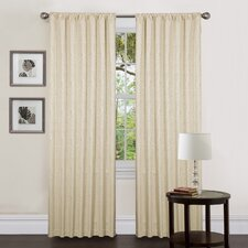 Zebra Rod Pocket Therma Curtain Single Panel with Tieback