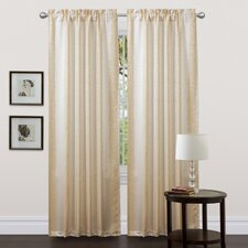 Rose Lane Rod Pocket Curtain Panel (Set of 2)