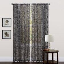 Leopard Rod Pocket Curtain Single Panel
