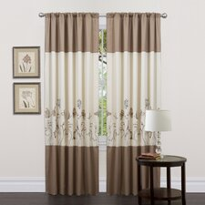 Butterfly Dreams Rod Pocket Curtain Panel (Set of 2)