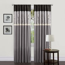 Cocoa Blossom Rod Pocket Curtain Panel (Set of 2)