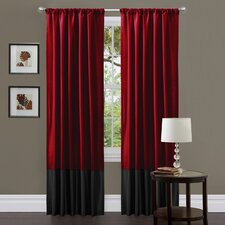 Milione Fiori Rod Pocket Curtain Panel (Set of 2)