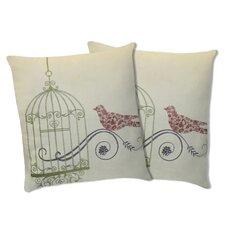 Dream Bird Cotton Pillow (Set of 2)