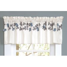 Flower Rod Pocket Tailored Kitchen Curtain Valance