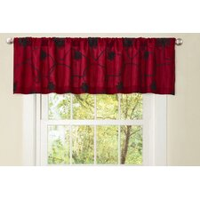 Milione Fiori Rod Pocket Taoilred Curtain Valance