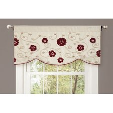 Royal Embrace Rod Pocket Scalloped Curtain Valance