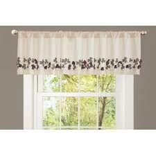 Flower Drop Rod Pocket Tailored Curtain Valance