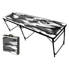<strong>Party Pong Tables</strong> Camo White Folding and Portable Beer Pong Table