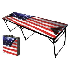 USA Folding and Portable Beer Pong Table