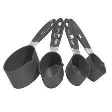 <strong>EKCO</strong> 4 Piece Measuring-cup Set with Gray Handle