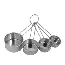 4 Piece Stainless Steel Measuring Cup Set (Set of 4)