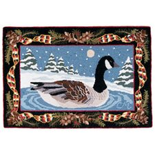 Claire Murray Christmas Goose Novelty Rug