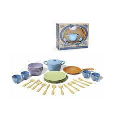 27 Piece Play Cookware and Dinnerware Set
