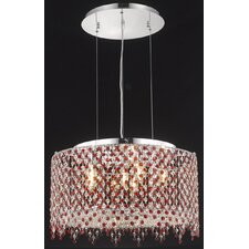 <strong>Elegant Lighting</strong> Moda 6 Light Drum Pendant