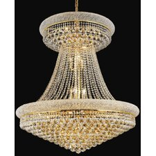 Primo 28 Light  Chandelier with Crystal