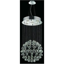"Galaxy 32"" 5 Light Semi Flush Mount"