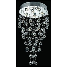 "<strong>Elegant Lighting</strong> Galaxy 32"" 6 Light Semi Flush Mount"
