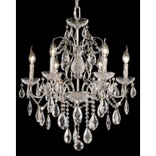 <strong>Elegant Lighting</strong> St. Francis 6 Light Oval Drops Chandelier