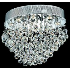 "<strong>Elegant Lighting</strong> Galaxy 16"" 8 Light Semi Flush Mount"
