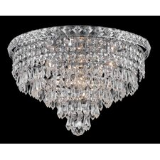 <strong>Elegant Lighting</strong> Tranquil 6 Light Semi Flush Mount