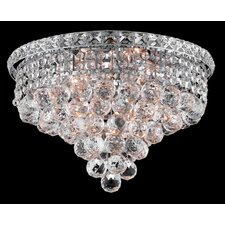 "<strong>Elegant Lighting</strong> Tranquil 6 Light 10"" Semi Flush Mount"