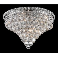 "<strong>Elegant Lighting</strong> Tranquil 10 Light 16"" Semi Flush Mount"